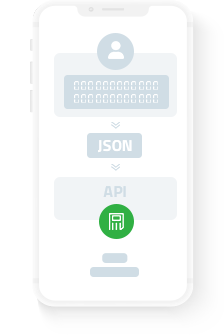 Storing the data by sending a JSON request to the API once a user executed a target behaviour